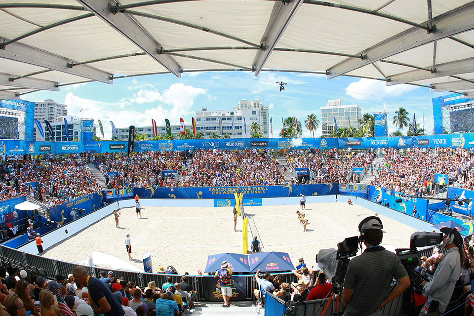 JTA accompanied Olympic trade media to the SWATCH Beach Volleyball FIVB World Tour Finals in Fort Lauderdale October 2015.
