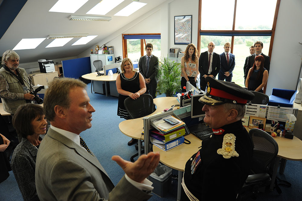 The JTA team welcome the Lord Lieutenant of Kent to their office